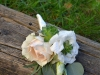 Blush Spray Rose With Lisianthus & Succulents