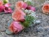 Succulent Peach ~ Spray Roses & Succulent