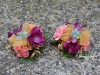 Rainbow Pretty ~ Wrist Style With Alstroemeria & Mini Carnations
