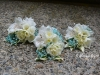 Aqua Mist ~ Pin Style ~ Spray Roses  With Freesia & Alstroemeria & Colour Enhanced Babys Breath