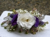 Hair Piece ~ Tartan Inspiration With  Lisianthus & Heather & Scottish Thistle