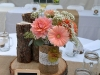 Rustic Peach With Burlap Embellish