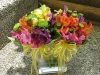 Colorful Delights ~ Small  Posy Bouquets With  Alstroemeria & Button Mums