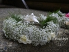 Halo (Flower Crown) Of Babys Breath & Spray Roses