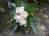 Posy Bouquet With Ivory Roses & Greenery