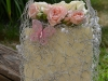 Pure Romance ~ Silver Wire Purse with Spray Roses & Butterfly Embellish