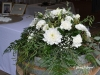 Variety Of Botanicals In White & Green ~ Barrel Topper