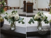 Hydrangeas With Roses & Eucalyptus In Large Vases