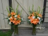 Asiatic Lilies & Gladiolas In Large Vases