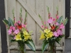 Tropical Interlude In  Large Vases ~ Aisle Markers