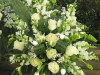 Winter White Tribute ~ Large Potted Spray