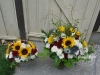 With Sincere Sympathy ~ Large Vase Arrangement With Matching Centerpiece